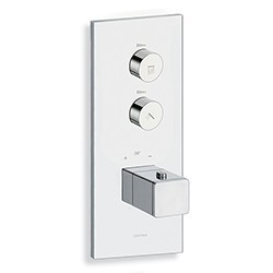FACADE THERMO UP VERTICALE THERMOSTATIQUE 2 SORTIES CHROME QUADRI - CRISTINA ONDYNA XQ72251