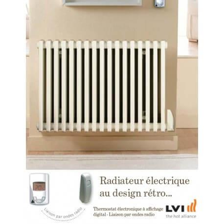 Radiateur LVI - EPOK H - 500W FLUIDE - Horizontal (haut.600) - 3630605