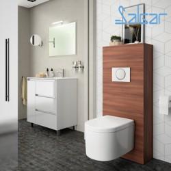 Habillage Bati-Support pour WC suspendu MARRON ACACIA - SALGAR NOJA 25367
