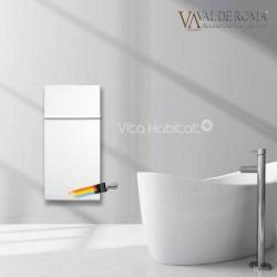 Radiateur à inertie Wifi Blanc Liberty 1300W Vertical - Valderoma BL13VEW