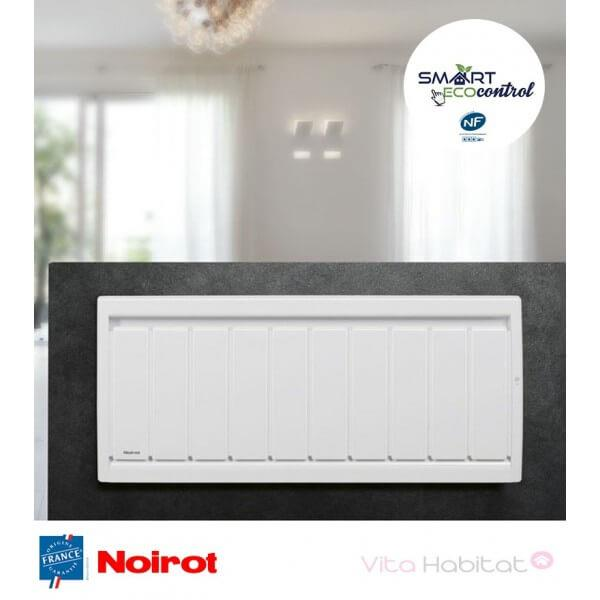 Radiateur electrique fonte noirot calidou smart ecocontrol 750w bas n3032se - Radiateur electrique 750w ...
