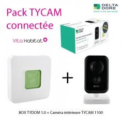 Pack TYCAM sécurité intérieure connectée - Tycam 1100 + Tydom 1.0 - Delta Dore 6410189