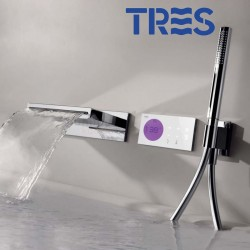 Kit de baignoire thermostatique électronique et encastré (2 voies) SHOWER TECHNOLOGY - TRES 09286556