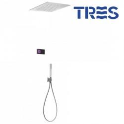 Kit de douche thermostatique électronique et encastré SHOWERTECHNOLOGY Noir - TRES 09288561