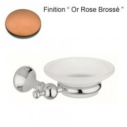 PORTE SAVON EN VERRE DEPOLI REGENCY MURAL OR ROSE BROSSE - CRISTINA ONDYNA RY12534