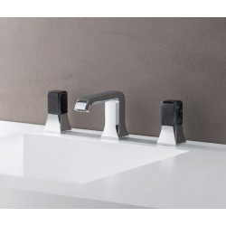 MELANGEUR LAVABO ITALY 3 TROUS  POIGNEE MARQUINIA AVEC VIDAGE UP&DOWN - CRISTINA ONDYNA IT20551MQ