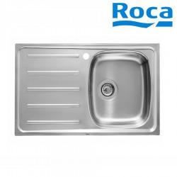 Évier de cuisine 1 bac avec égouttoir en Inox- ROCA A870H40801