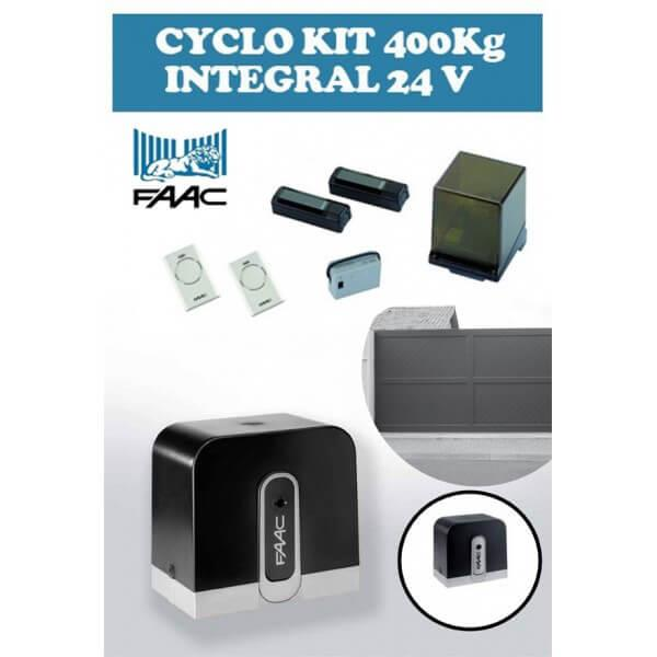 Motorisation Portail Coulissant Faac Cyclo Kit Integral 400 Kg 24v