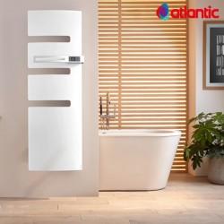 Sèche-serviettes électrique ATLANTIC 1750W (750W+1000W) Mât à droite SERENIS soufflant