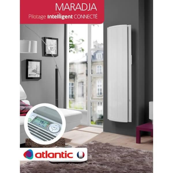 radiateur lectrique atlantic maradja pilotage intelligent connect vertical. Black Bedroom Furniture Sets. Home Design Ideas