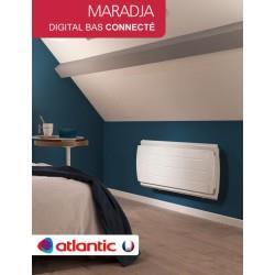 Radiateur électrique Atlantic MARADJA Digital Bas Connecté - Radiateur inertie FONTE