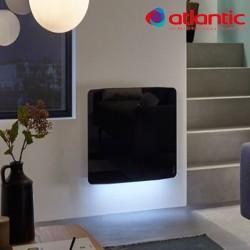Radiateur électrique Atlantic DIVALI Premium Horizontal Noir 1500W Lumineux - 507637
