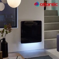 Radiateur électrique Atlantic DIVALI Premium Horizontal Noir 1000W Lumineux - 507636