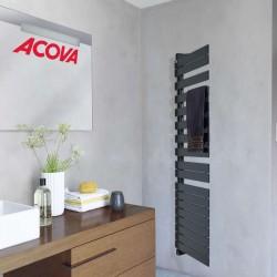 Sèche-serviette Chauffage central ACOVA -  Fassane Spa Twist asymétrique à gauche 429W - FLT081-055