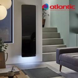 Radiateur électrique Atlantic DIVALI Premium Vertcial Noir Lumineux