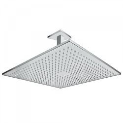 Bras de douche plafond avec pommeau anticalcaire  450x450mm. - TRES 03443205 Bras de douche plafond avec pommeau anticalcaire