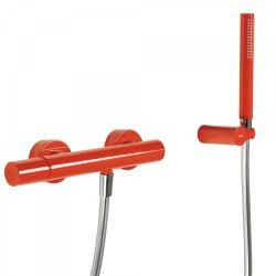 Mitigeur douche Douchette à main anticalcaire avec support orientable et flexible. - TRES 26116701TRO Mitigeur douche Douchette