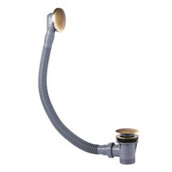 Vidage baignoire avec trop‑plein et valve automatique Ø72mm CLICK‑CLACK  - TRES 03453420LV Vidage baignoire avec trop‑plein et