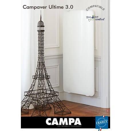Radiateur électrique CAMPA CAMPAVER Ultime 3.0 Vertical Lys Blanc 1250W CMUD13VBCCB