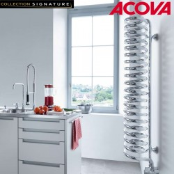 Sèche-serviette ACOVA Spirale eau chaude chromé 654W SPILO-180-020