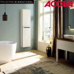 Sèche-serviette ACOVA Zenia electrique soufflant 1225W (225W + 1000W ) Blanc ouverture gauche AZNRW-100-045