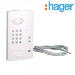 latine de rue 1 logement code opaque HAGER - MHF05X