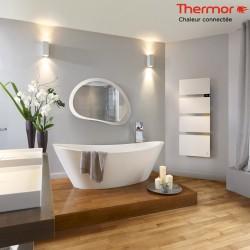 Sèche-serviettes électrique Thermor SYMPHONIK blanc - 1750W (700 + 1000) mât à droite- 490611
