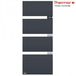 Sèche-serviettes électrique Thermor SYMPHONIK gris ardoise - 1750W (700 + 1000) mât à droite - 490615