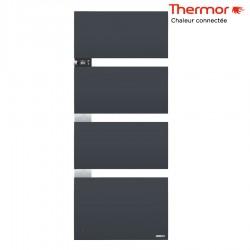 Sèche-serviettes électrique Thermor SYMPHONIK gris ardoise - 1750W (700 + 1000) mât à gauche- 492615