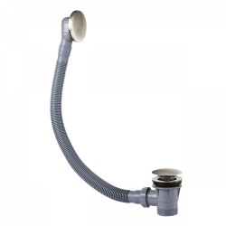 Vidage baignoire avec trop‑plein et valve automatique Ø72mm CLICK‑CLACK  - TRES 03453420AC Vidage baignoire avec trop‑plein et