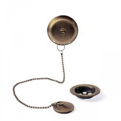 Ensemble d'accesoires pour baignoireØ70mm Chaînette de 42cm.  - TRES 03474501LM Ensemble d'accesoires pour baignoireØ70mm