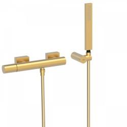 Mitigeur douche Douchette à main anticalcaire avec support orientable et flexibl  - TRES 21116701OM Mitigeur douche Douchette à