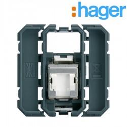 Prise RJ45 catégorie 6A STP pour Grade 3TV GALLERY - HAGER WXF228