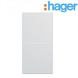 Enjoliveur interrupteur à voyant 1 module pure GALLERY HAGER WXD011B