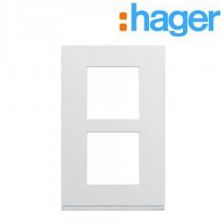 Plaque plastique injecté 2 postes verticale 57mm pure GALLERY HAGER WXP0022