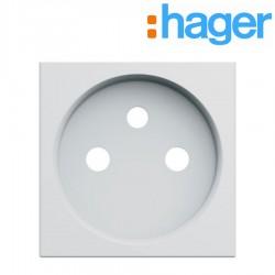 Enjoliveur prise de courant 2 pôles + terre gallery pure GALLERY HAGER WXD100B