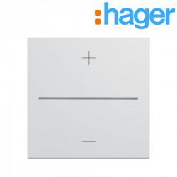 Enjoliveur variateur connecte pure GALLERY HAGER WXD070B