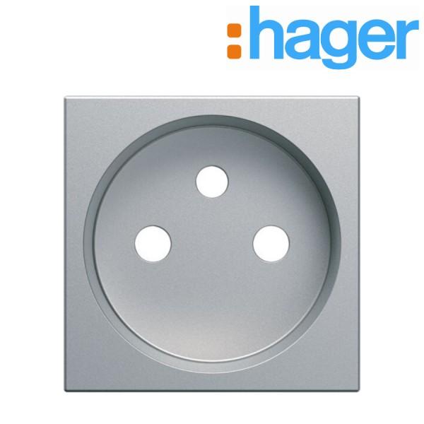 Kallysta Titane Enjoliveur pour Prise Hager WK730T