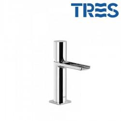 Mitigeur lavabo robinet cascade bec ouvert Chrome LOFT - TRES 20011002