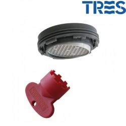Aérateur orientable + clé Mâle 24/100 - TRES 29961006