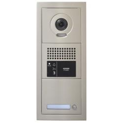 Platine de rue 1 bouton GT vidéo modulaire 1 x 3 modules sans boucle magnétique GTBVH1PSBM - Aiphone 200293 Platine de rue 1 bou