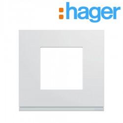 Plaque plastique injecté 1 poste pure GALLERY - HAGER WXP0002