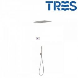 Kit de douche thermostatique électronique et encastré SHOWERTECHNOLOGY Acier  - TRES 09286308AC