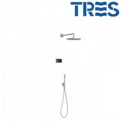Kit de douche thermostatique électronique et encastré SHOWERTECHNOLOGY Acier  - TRES 09288558AC