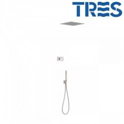 Kit de douche thermostatique électronique et encastré SHOWERTECHNOLOGY Acier - TRES 09286552AC
