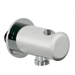 Support pour douchette avec prise d'eau murale Chromé - TRES 02418201 Support pour douchette avec prise d'eau murale Chromé - TR