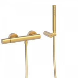 Mitigeur douche Douchette à main anticalcaire avec support orientable et flexibl  - TRES 26116701OM Mitigeur douche Douchette à