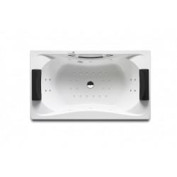 Baignoire Balnéo acrylique rectangulaire biplace à encastrer 1800X900 Blanc Be Cool - Roca A248054001