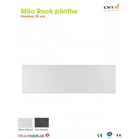 Radiateur electrique MILO Rock Plinthe (haut.250) Blanc 470W - LVI 2025120