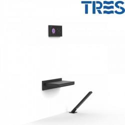 Kit de baignoire thermostatique électronique et encastré SHOWERTECHNOLOGY Noir Mat  - TRES 09288570NM